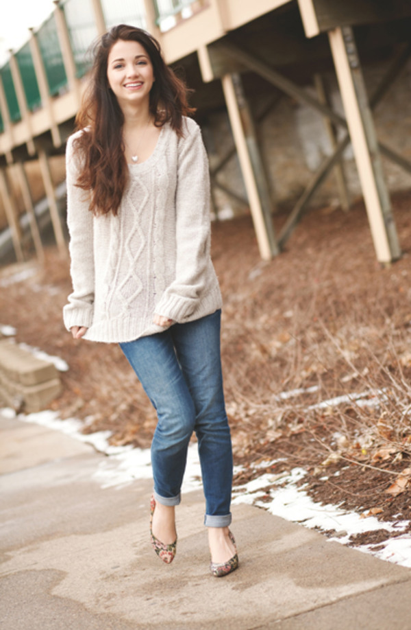 shoes jeans sweater