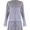 Striped silk and cotton-blend satin shirtdress