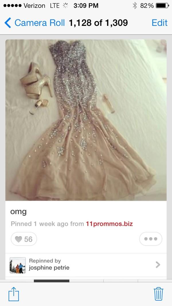 dress sequin prom dress sequin dress prom dress long prom dress nude dress glamour shiny