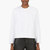 helmut lang white minimalist ravel sweater