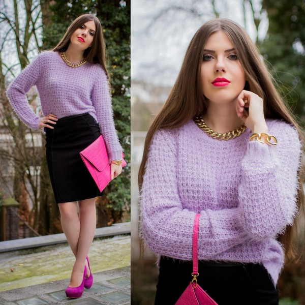 frau eismann coat sweater skirt shoes bag jewels