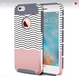 phone cover iphone 6 case gray pink hibrrid