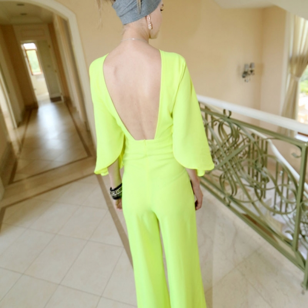 Cutout Batwing Sleeve Jumpsuits - OASAP.com