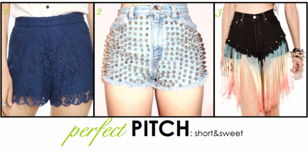 shorts black spiked and colorful tasseled shorts