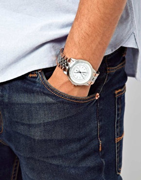 ASOS | ASOS – Uhr mit Metallarmband im Vintage-Look bei ASOS