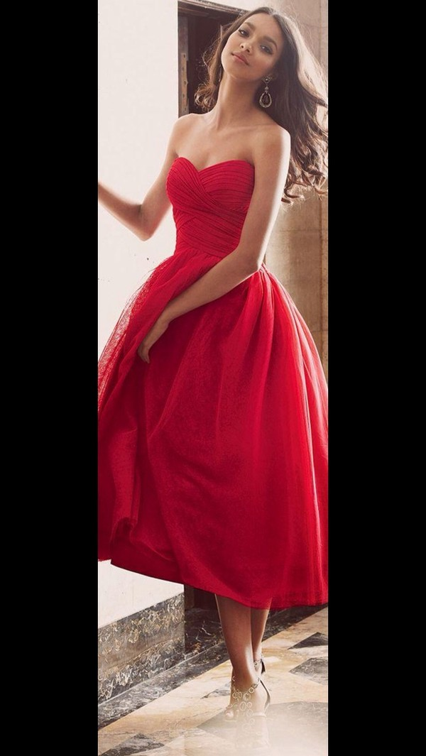 dress red dress red long prom sleeveless pretty beautiful ball gown dress beautiful red dress