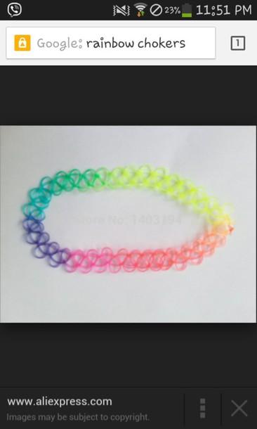 jewels rainbow chokers choker necklace