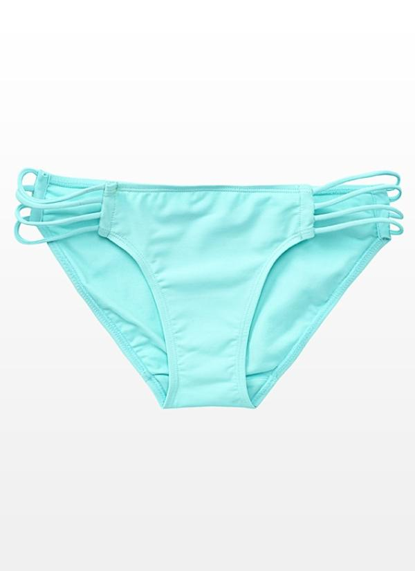 Strappy Bikini Bottom Mint Menthe - Woman - Clothing - Habbage