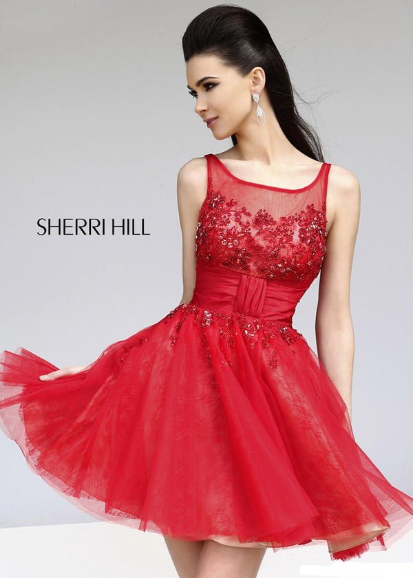 dress red cocktail short fashion red prom dress