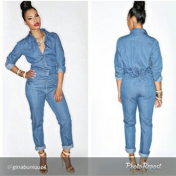 Denim Jumpsuits For Women Photo Album - Reikian