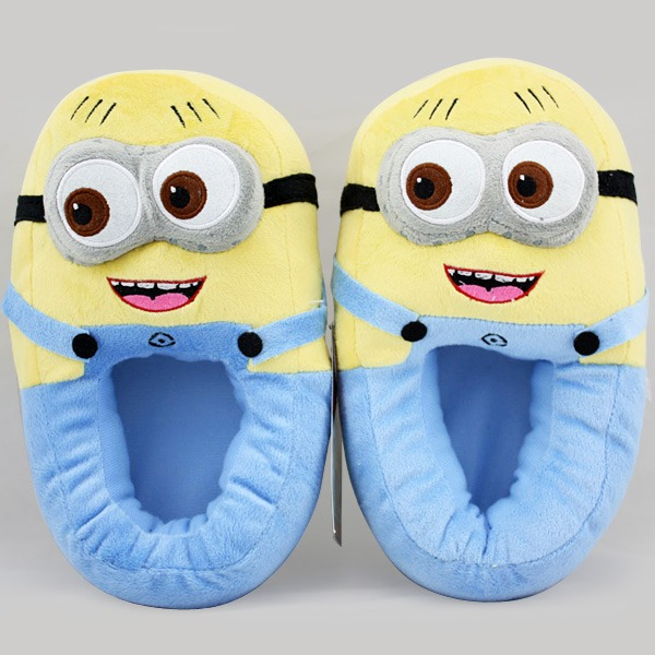 Despicable Me Minion Plush Toy Animal Shoes Stuffed Slipper 3D Monsters Stewart | eBay