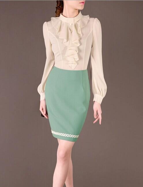 Green Pencil Elegant Noble Summer OL Women Fashion Skirt lml7099 - ott-123 - Global Online Shopping for Dresses