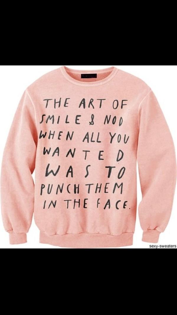 sweater pink black