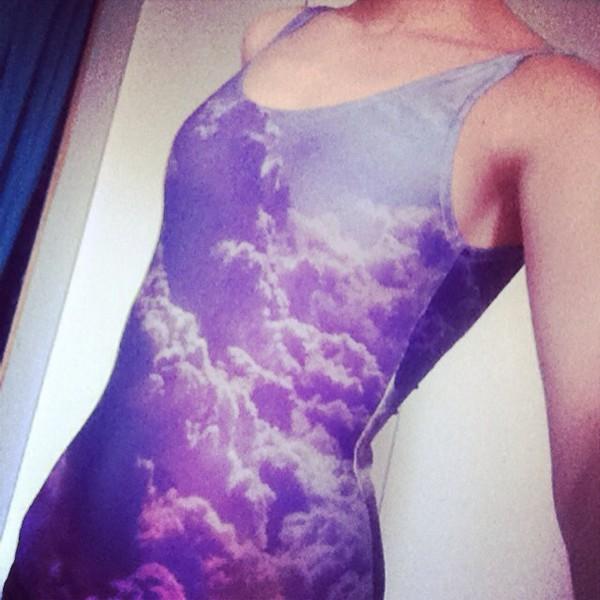 swimwear sky purple swimwear