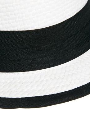 Liquorish | Liquorish Trilby Hat With Black Band Detail at ASOS