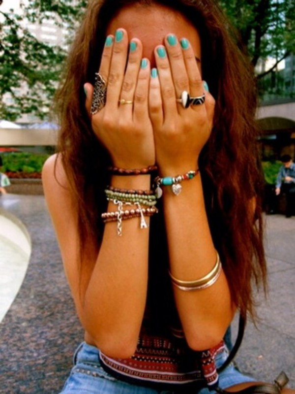 jewels jewelry gold ring bracelets necklace cute hippie hipster hippie chic indie chunky
