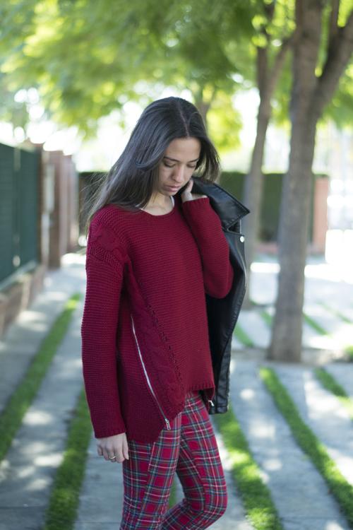 Side Zipper Cable Sweater - OASAP.com