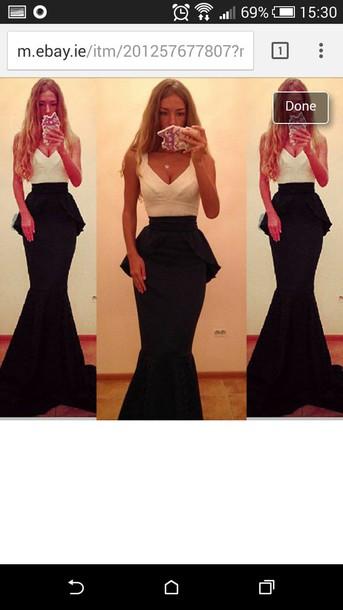 dress prom dress prom formal dress black dress white dress peplum maxi dress