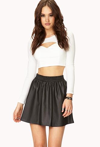 Street-Femme Faux Leather Skirt | FOREVER21 - 2000093144