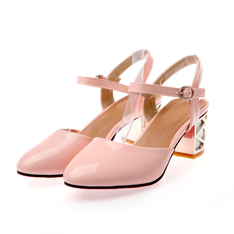 Wholesale Comfortable high heels crystal heel sweet ladies shoes Z-LQE-890-1 - Lovely Fashion
