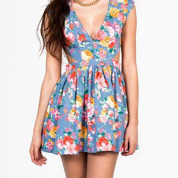 cut-out-floral-print-dress BLUEPINK - GoJane.com on Wanelo