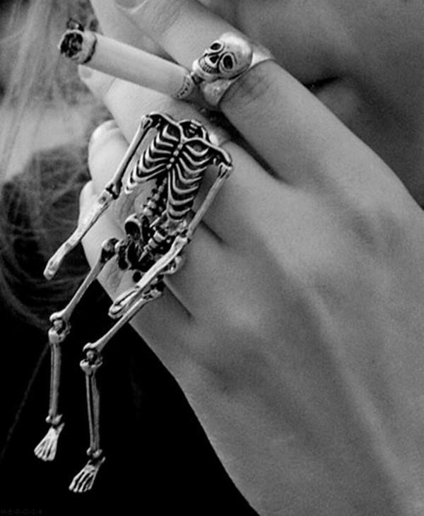 jewels ring double ring skeleton halloween skeleton ring