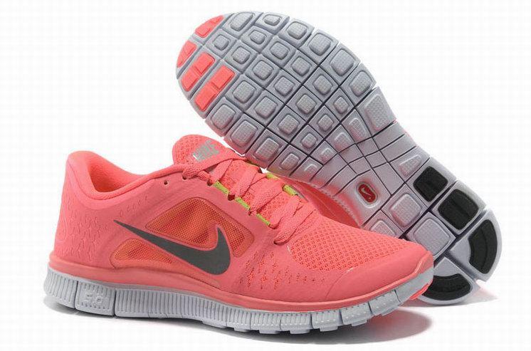 69.9$ Nike Free Run  3 Womens 510642 Melon Red Running Shoes