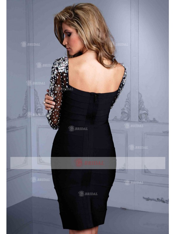 Sheath/Column V-Neck Zipper Short/Mini Satin Sleeveless Little Black Dresses