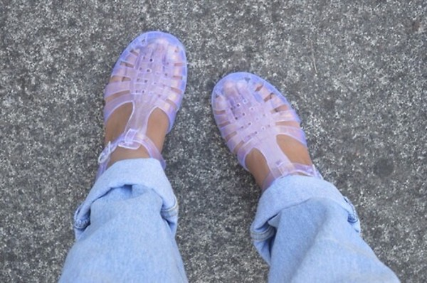 shoes jellies sandals clear jellies
