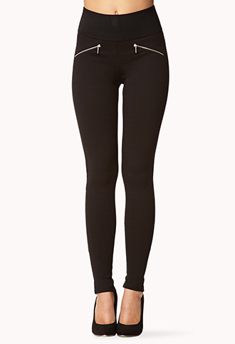 Zippered Leggings | FOREVER21 - 2057816858