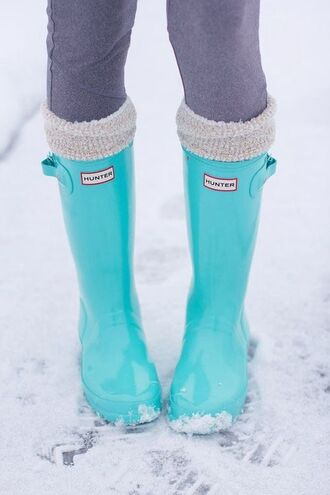 shoes shorts boots tiffany blue hunter boots wellies turquoise