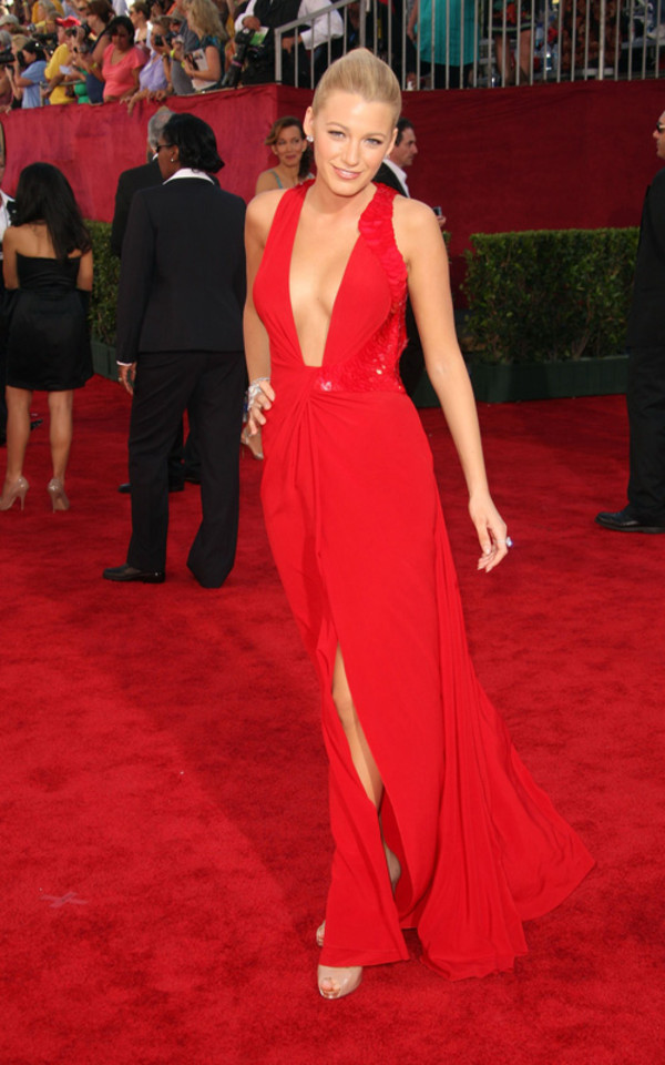 dress red dress blake lively dress red celebrity