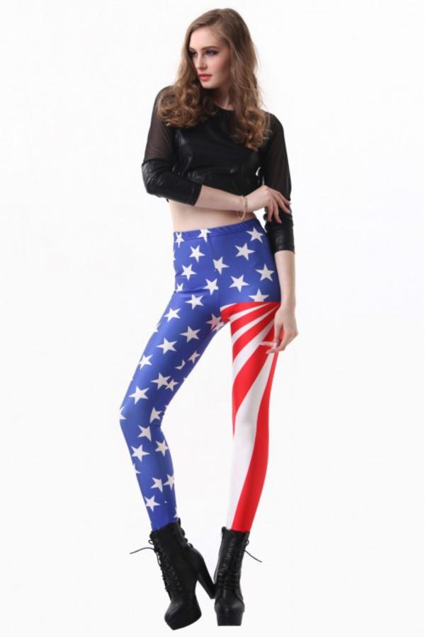 leggings kcloth kcloth leggings american flag leggings stars leggings american flag