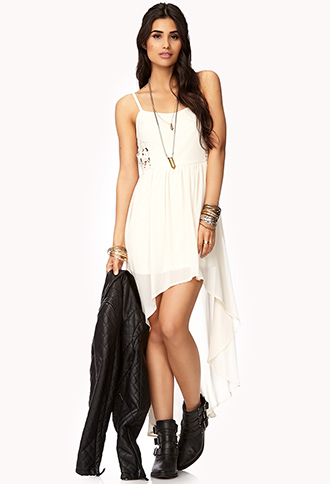 Pretty Cutout High-Low Dress   FOREVER21 - 2000076198