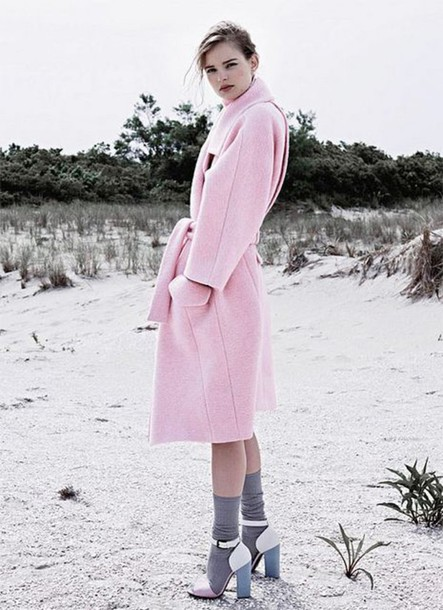 coat pastel pink