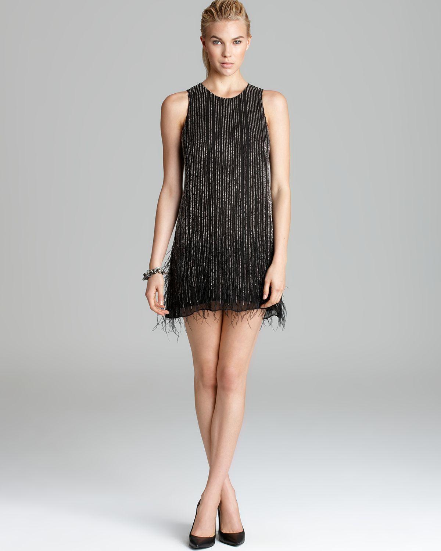 Parker Dress - Allegra Feather Trim | Bloomingdale's