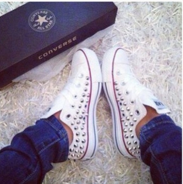 shoes chuck taylor all stars studded converses studded converses