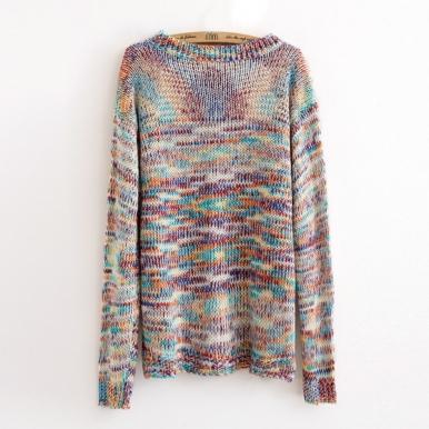 Latest Irregular Shape Colorful Sweater
