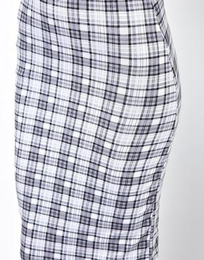 Club L | Club L Check Print Pencil Skirt at ASOS