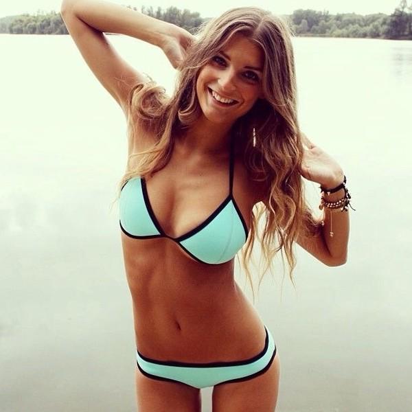 swimwear bikini bikini bottoms bikini top turquoise bathing suit top swimwear