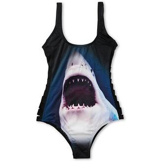 swimwear shark billabong one piece swimsuit muller animal face print sea creatures