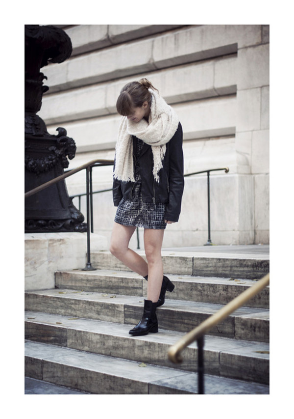 just another me dress jacket shoes sweater scarf jewels