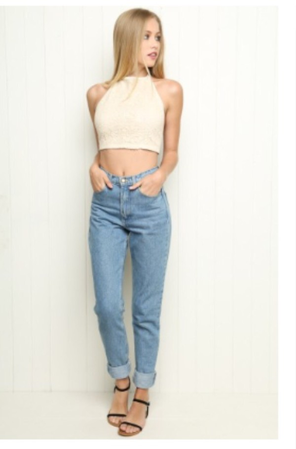 Brandy Melville High Rise Mom Jeans Clothing
