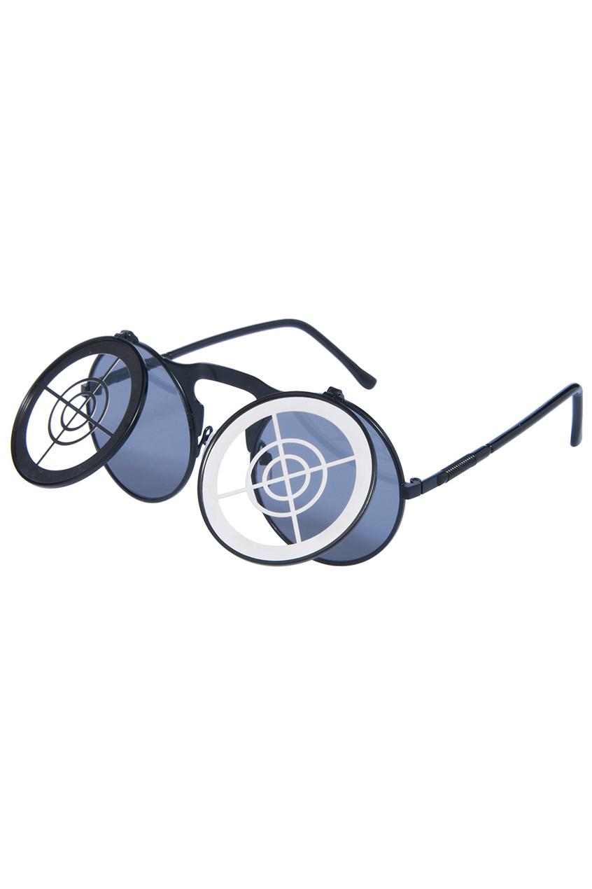 ROMWE | ROMWE Gold Target Hollow-out Double-layered Sunglasses, The Latest Street Fashion
