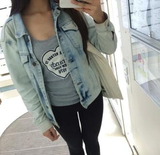 coat veste jacket blue jeans denim