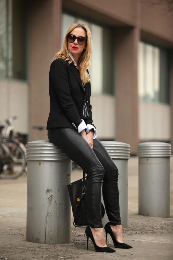 brooklyn blonde jacket shirt pants shoes bag