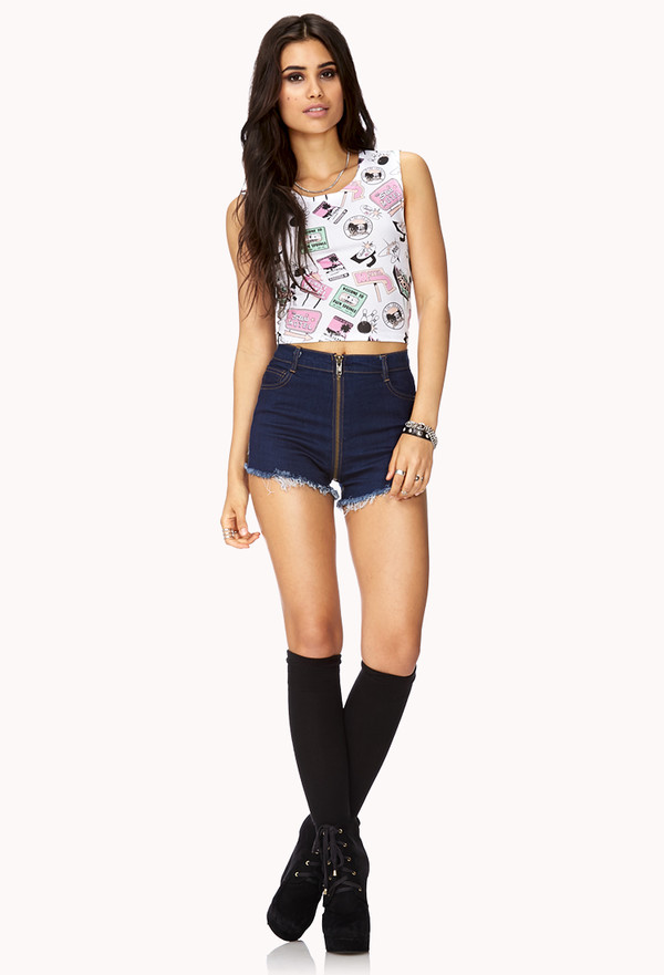 shorts crop tops High waisted shorts forever 21 underwear