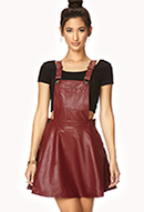 Secret Rebel Faux Leather Overall Dress | FOREVER21 - 2000072843