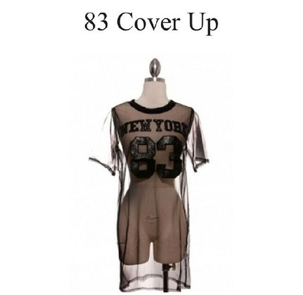 cover up 83 jersey see through shirt