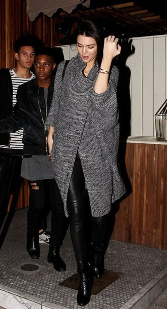 cardigan kendall jenner boots